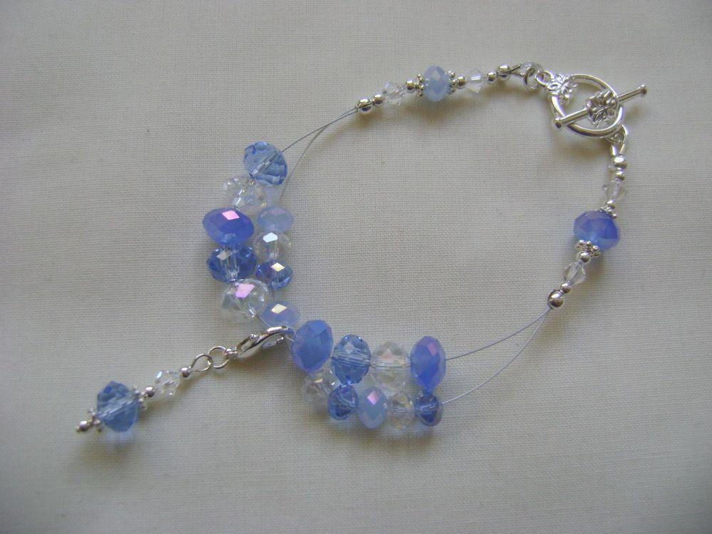 Blue Ice Row Counter Bracelet
