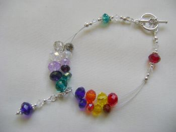 Rainbow Row Counter Bracelet