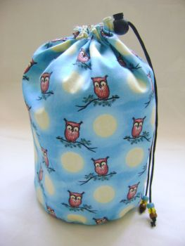 Moonlight Owls Project Bag
