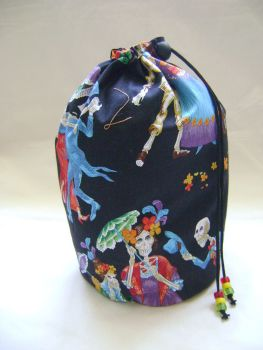 Dancing Skeletons Project Bag
