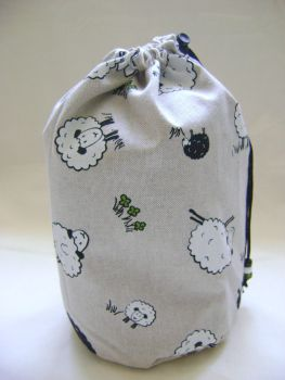 Black and White Sheep Project Bag