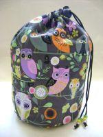 Floral Owls Project Bag