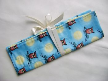 Moonlight Owls Needle and Hook Roll
