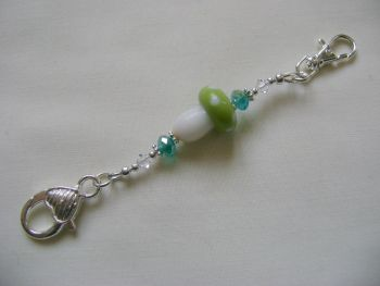 Fairy Toadstool Stitch Marker Holder - green