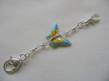 Cloisonne Butterfly Stitch Marker Holder