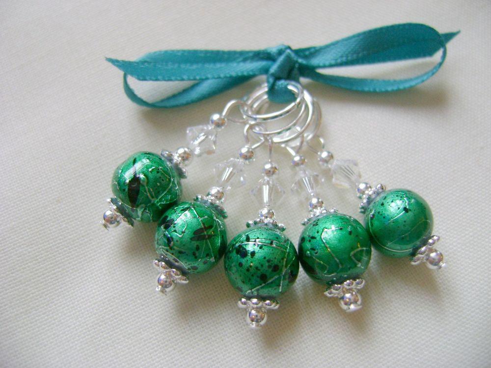 Emerald Splatterglass