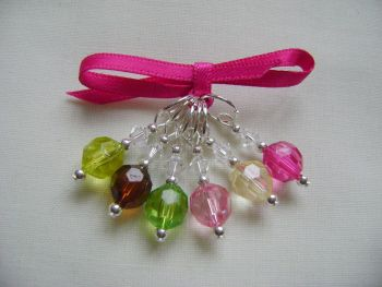 Watermelon Faceted Acrylic Stitch Markers