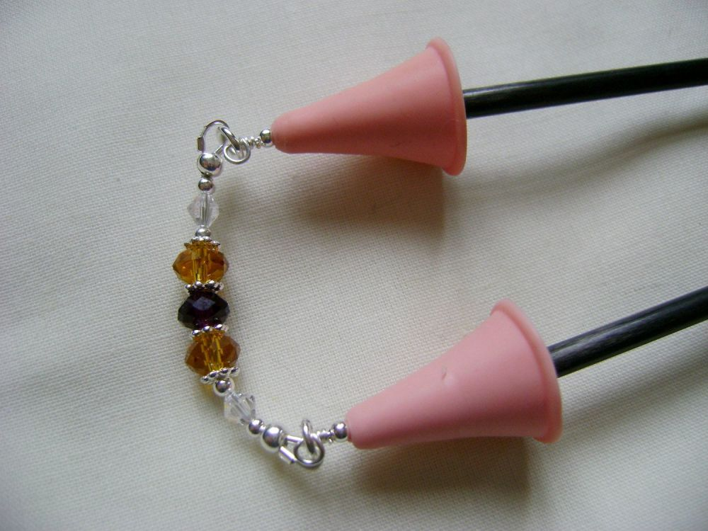 Royal Faceted Crystal Point Protectors