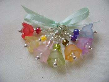 Lucite Bellflower Stitch Markers