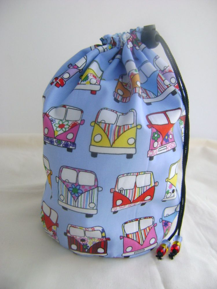 Camper Vans Project Bag - blue