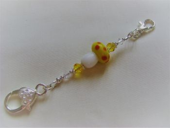 Fairy Toadstool Stitch Marker Holder - yellow
