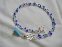 <!-- 010 -->Ocean Scissor Keeper/Stitch Marker Holder Necklace