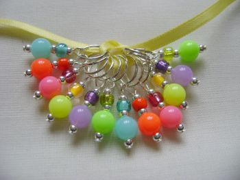 Neon Bright Rainbow Stitch Markers