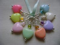 Pastel Acrylic Hearts