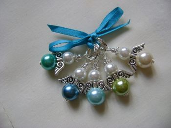 Guardian Angel Pearls - teals