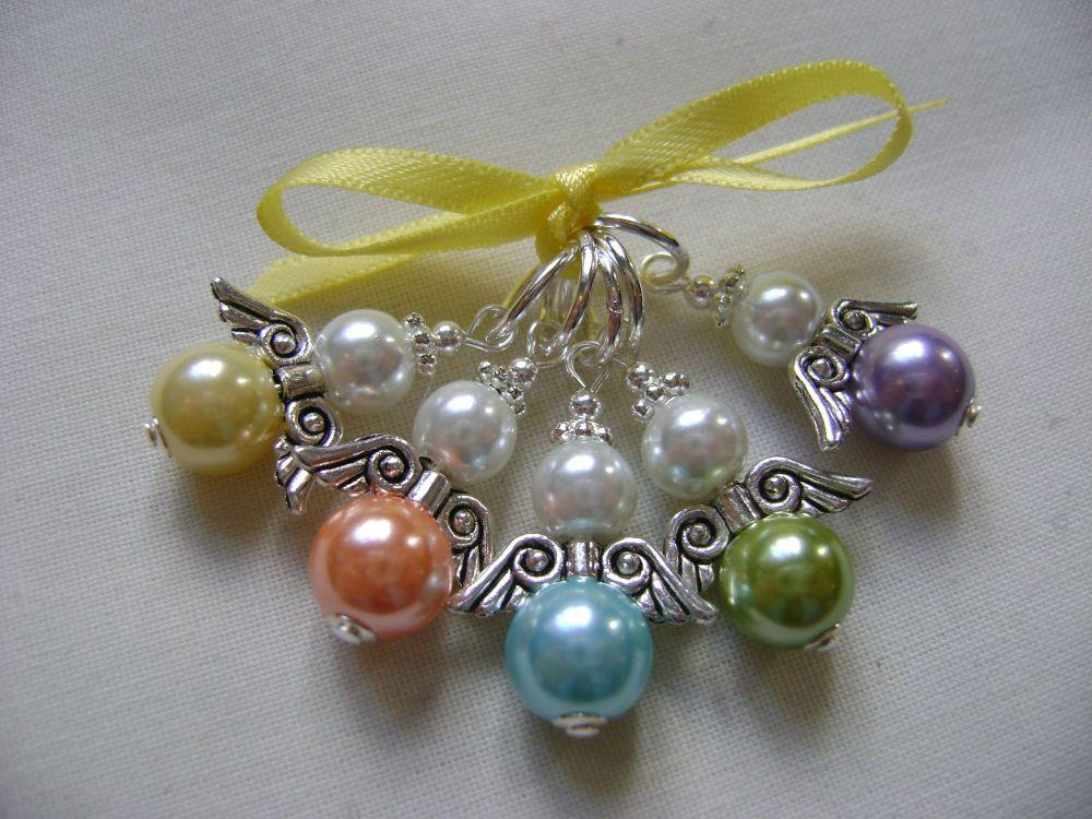 Guardian Angel Pearls - spring hues