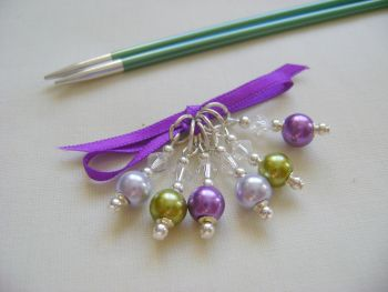 Lavender Garden Hues Stitch Markers