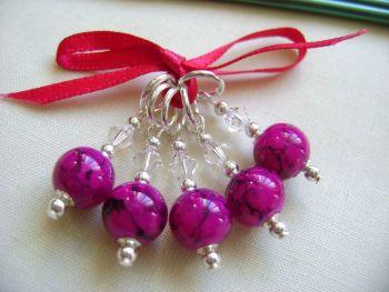 Fuchsia Pink Marbled