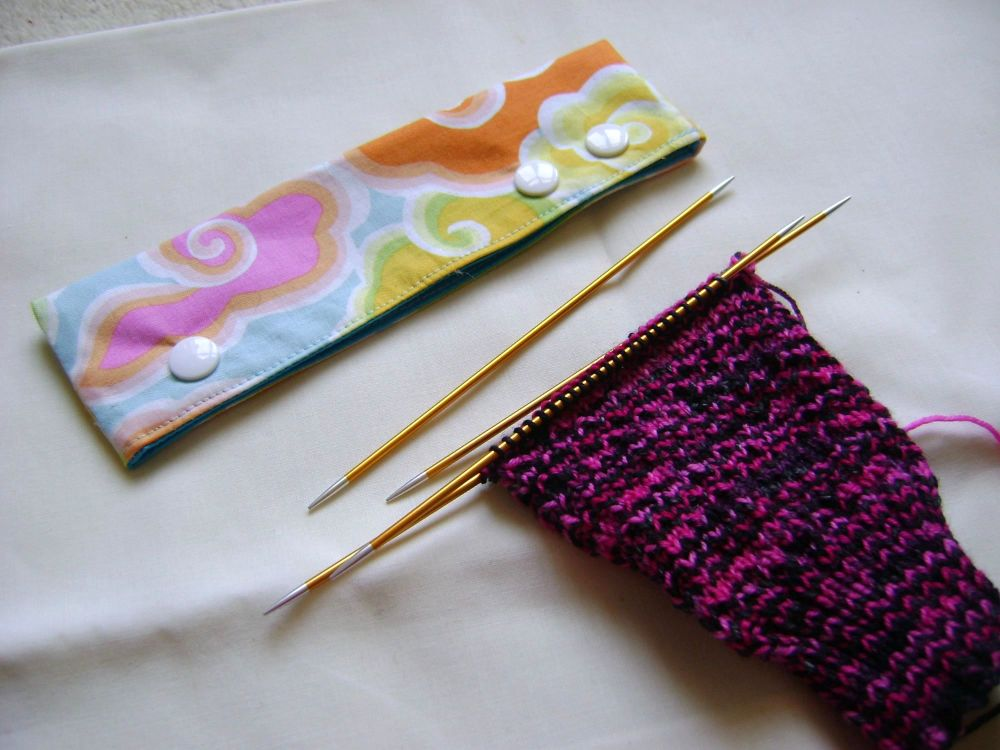 Colourful Clouds Needle Cozy - fit 15cm