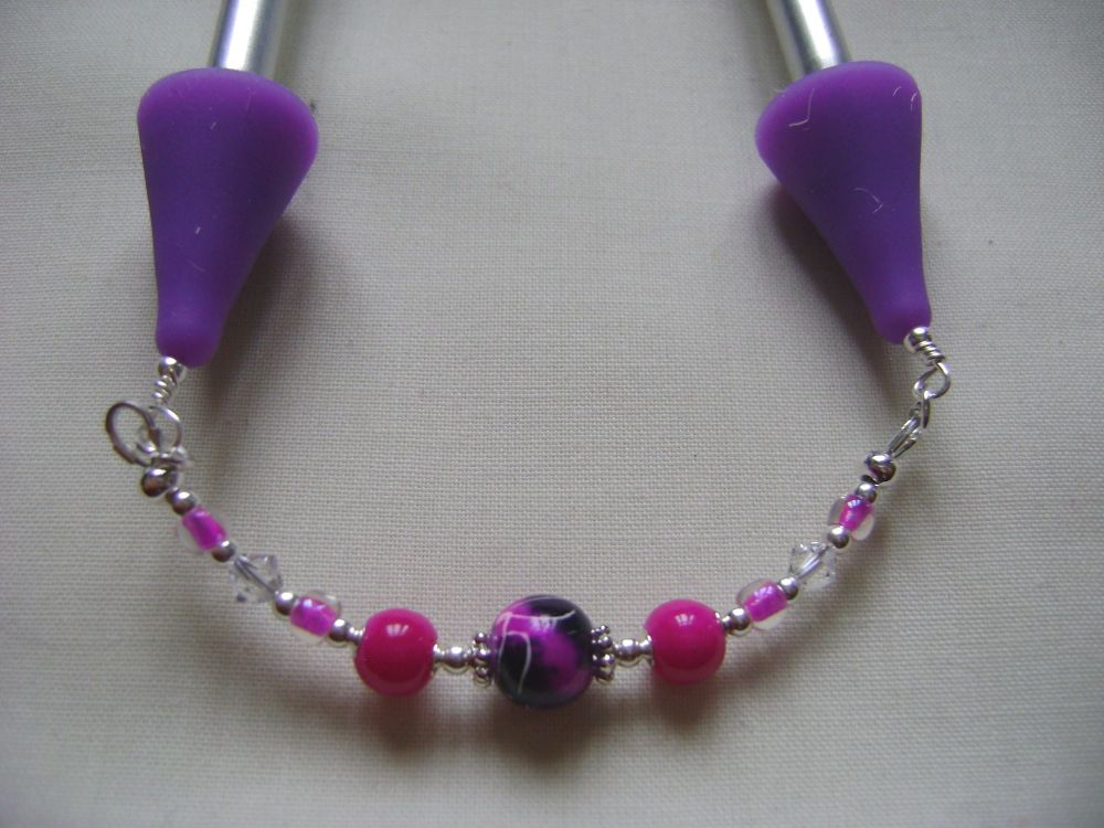 Fuchsia and Purple Art Glass Point Protectors