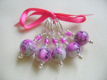 Pink Grey Swirl Marbled