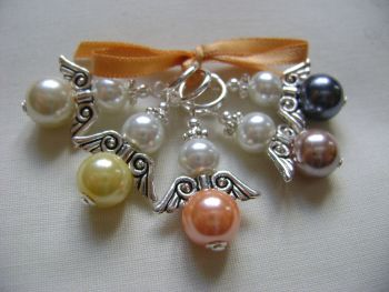 Guardian Angel Pearls - warm shades