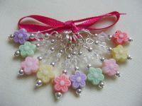 <!-- 013 -->Acrylic Flower Stitch Markers
