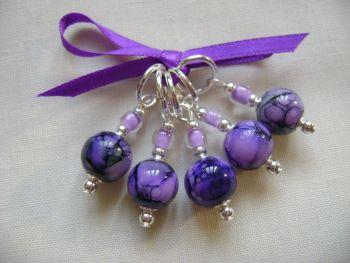 Purple Lilac Swirl Marbled