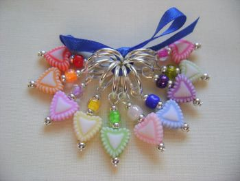Heart Rainbow Acrylic Stitch Markers