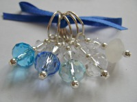 Waterfall Blue Rondelle Stitch Markers