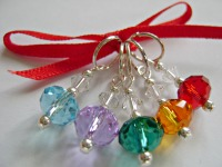 Rainbow Crystal Rondelle Stitch Markers