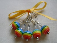 <!-- 015 -->Rainbow Bright Stitch Markers