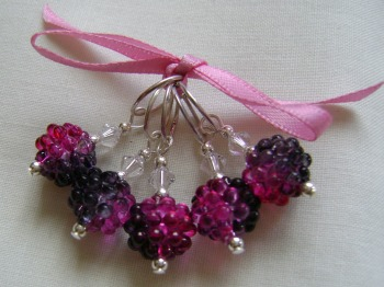 Blackberry Acrylic Stitch Markers