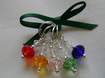 Rainbow Rondelle Stitch Markers