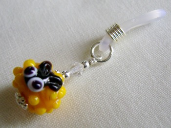 Yellow Glass Sheep Needle Holder