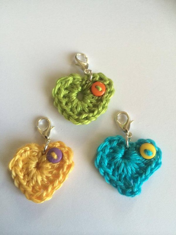 crochet heart stitch markers mine april 14