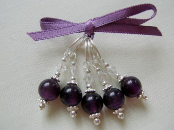 Round Amethyst Glass
