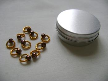 Gold Bronze Snag Free Stitch Markers