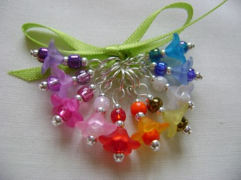 Rainbow Flowers Stitch Markers