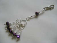 <!-- 001 -->Purple Iris Stitch Marker Holder and Stitch Marker Set