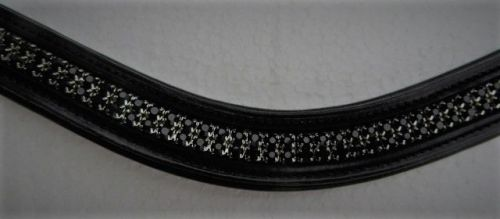 Black Crystal Bling Browband