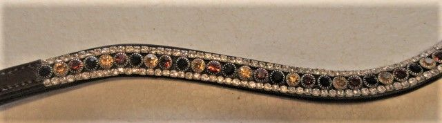 Amber Stones Bling Browband
