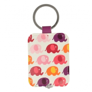 Keyring Key Light  - Ella Bella Rose Elephants Design