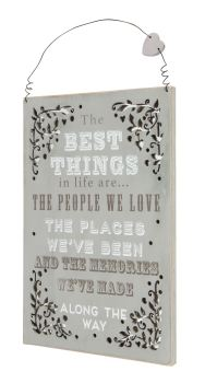 Die Cut Mirrored Shaaby Chic Plaque - Best Things in Life