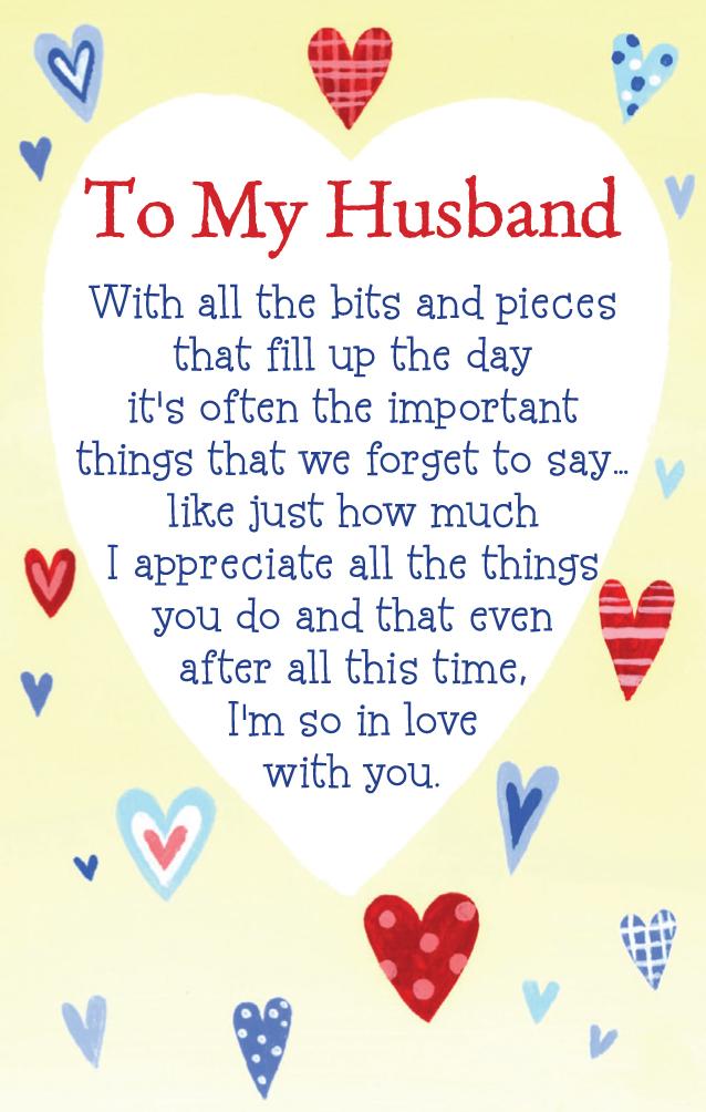 heart warmers keepsake to my husband