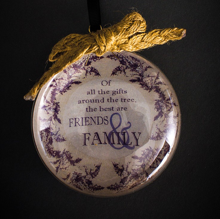 Hanging Glass Family Sign Ball