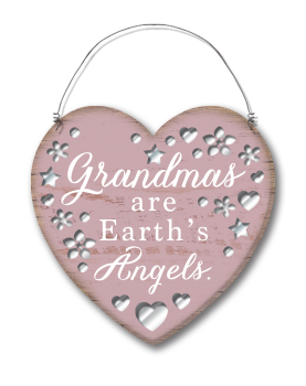 Small Shabby Chic Mirrored Plaque - Grandmas Are Earths Angels