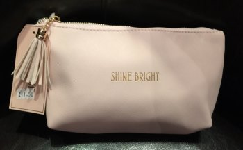 Shine Bright  Pale Pink Cosmetic Bag with tassel