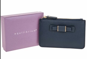 equilibrium Coin Purse - Navy, in gift box