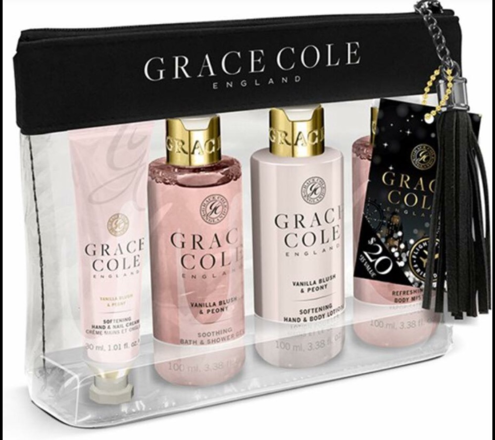 Grace & Cole Vanilla & Peony Travel Set